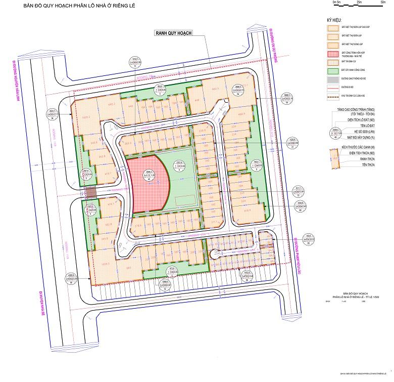 Sơ đồ phân lô dự án Citadel Residence